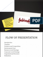Fabindia Strategy management complete overview
