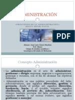 Principios de La Administracion