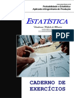 Estatística. Eng2012.2 - Exercícios