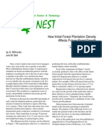 How Initial Forest Plantatio Density Affects Future Stand Growth