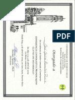 Certificado Seminario Experiencia Mondragón por Rafael Altuna 2009 - JJ Ramírez