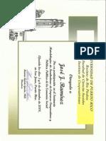 Certificado Incubadoras Coop 2008 - JJ Ramírez