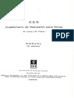 CDS Cuestionario de Depresion Para Ninos