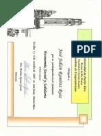 Certificado Economía Solidaria Dr. Pablo Guerra 2007 - JJ Ramírez