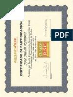 Certificado Encuentro Responsabilidad Social ConectaRSE 2007
