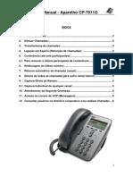Manual Aparelho IP Cisco 7911