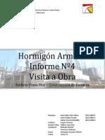 Informe de Obra Nº4 de Hormigón Armado
