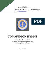 3 New Communion Hymns 2013