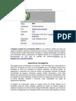 Registro General de La Propiedad(DESCARGAS)