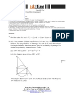 Maths Sample Paper II