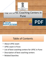 Top 10 UPSC Coaching Centers in Pune
