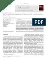 A Contribuição Da Associação Internacional de Ergonomia Para a Transição Da Ergonomia