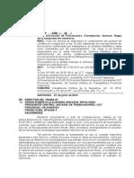 Dictamen Quorum Constitución