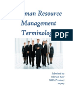Human Resource Management Terminology