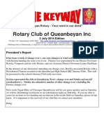 The Keyway - 2 July 2014 edition - weekly newsletter for the Rotary Club of Queanbeyan