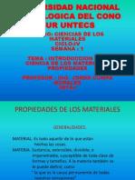 Untecs Semana 1 Ciencias de Los Materiales