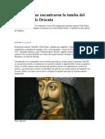 Aseguran Que Encontraron La Tumba Del Mítico Conde Drácula