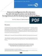 Hacia la configuración de sistemas locales de innovación con inclusión