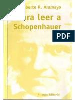 Para Leer a Schopenhauer - Roberto R. Aramayo