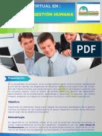 Diplomado Virtual Gerencia en Gestión Humana