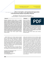 Advances in the Indirect, Descriptive, And Experimental Approaches
