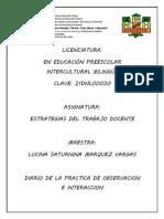 Diario de Clases 1ra Jornada