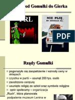 PRL Od Gomułki Do Gierka