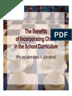 McDonald - Benefits of Incorporating Chess in School Curriculum
