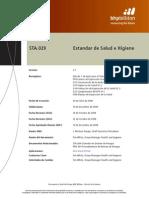 STA 029 Estandar de Salud e Higiene v 1 2