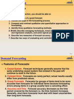Demand Forecasting - Lecture Notes