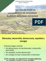 Energia Solar Para Regiones Alejadas