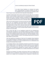 Carta Abierta a Los Ex Socialistas Que Apoyan a Marcel Claude