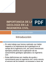Importancia de La Geología en La Ingeniería Civil