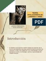 Teoria de Lamarck y Vries Power Point Hecho