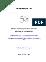 Estrategia Transmedia Para La Difusión de La Música Experimental en Lima - Wilder Gonzales Agreda (2012)