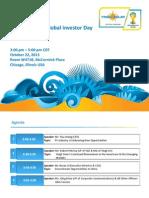 YGE Global Investor Day 2013 Presentation Final Yingli Solar