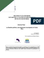 Cruz, J. 2012. La Gestión política y las dinámicas municipales en Costa Rica.pdf
