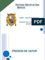Presion_de_Vapor. Exposicion Hoy Dia