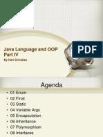 04 Java Language and OOP Part IV