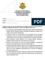 Guia Examen Final de Segundo Año Historia Universal Junio 2014