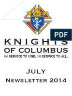 Arkansas Knights of Columbus July 2014 Newsletter
