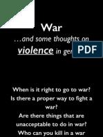 Christian Ethics (303) War Part 1