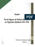 Plan de Negocios de PEMEX 2014-2018