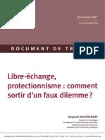WP Libre Echange Protectionnisme