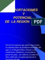 Exportaciones y Potencial en La Region