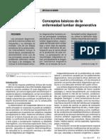 Conceptos básicos de la enfermedad lumbar degenerativa