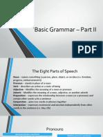 Basic Grammar – Part II
