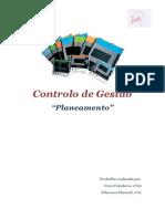 Controlo de Gestão - Planeamento