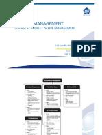 Kuliah 4 Project Scope Management