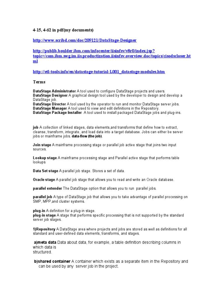 Websphere Datastage Designer Client Guide Pdf Download
